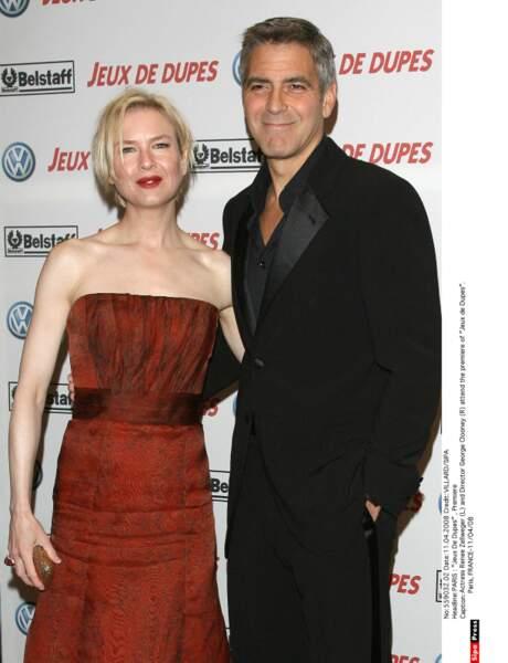 Renee Zellweger et George Clooney se disent très amis. La rumeur leur a un temps prêté une liaision.