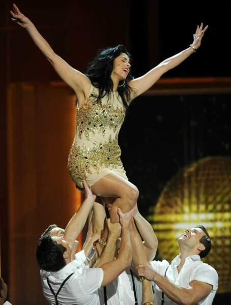 L'humoriste Sarah Silverman danse aux Emmy Awards 2013