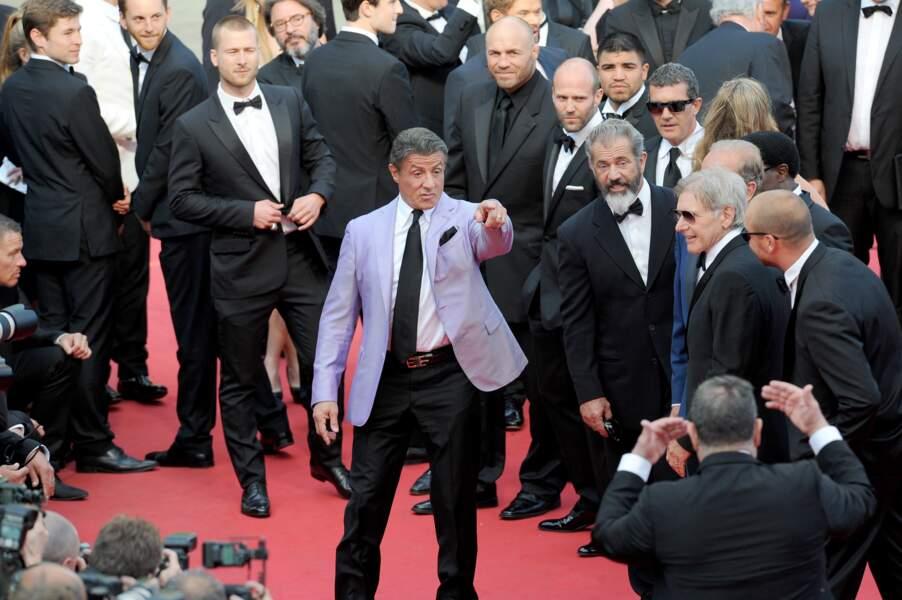 """Sylvester Stallone en mode  """"I want you !"""""""