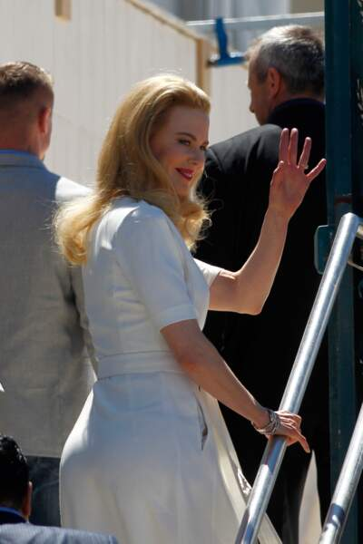 Arrivée de Nicole Kidman pour le photocall de Grace de Monaco