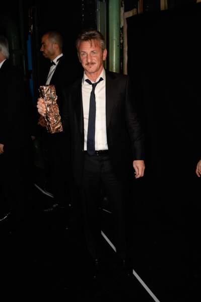Sean Penn et son César d'honneur