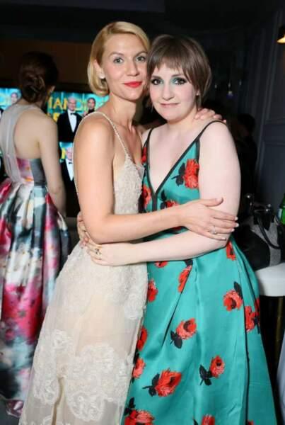 Claire Danes (Homeland) and Lena Dunham (Girls) aux Emmy Awards 2013