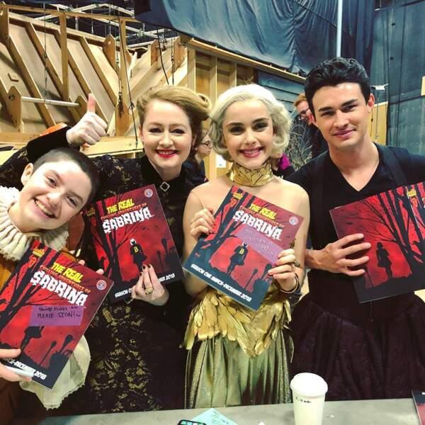 Les acteurs des Nouvelles Aventures de Sabrina, fiers de vous présenter la bande-dessinée