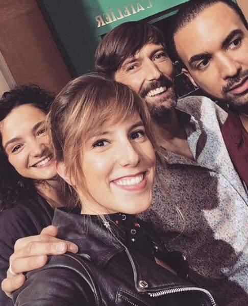 Selfie au Mistral pour les comédiens de Plus belle la vie.