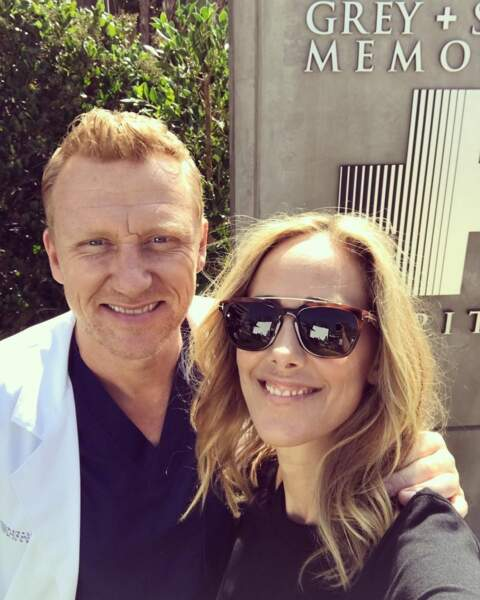 Toujours inséparables ces deux-là… Kevin McKidd et Kim Raver de Grey's Anatomy sont très amis