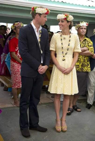 Le couple en tournée à l'autre bout du monde, ici à Tuvalu