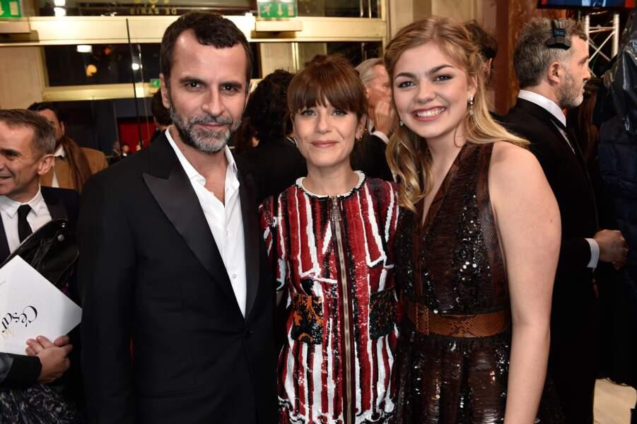 Eric Lartigau et ses deux actrices stars de La Famille Bélier, Marina Fois et Louane Emera