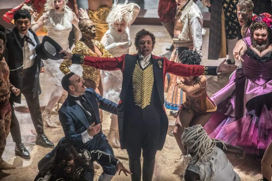 Il est P.T Barnum, l'inventeur du cirque moderne dans The Greatest Showman (2018)