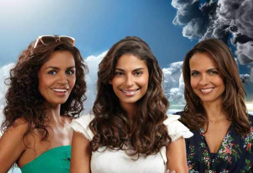 Les Miss météo de M6 : Laurence Roustandjee, Tatiana Silva et Cali Morales