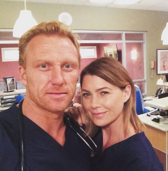 Ellen Pompeo et Kevin McKidd tiennent le navire de la saison 12 de Grey's Anatomy