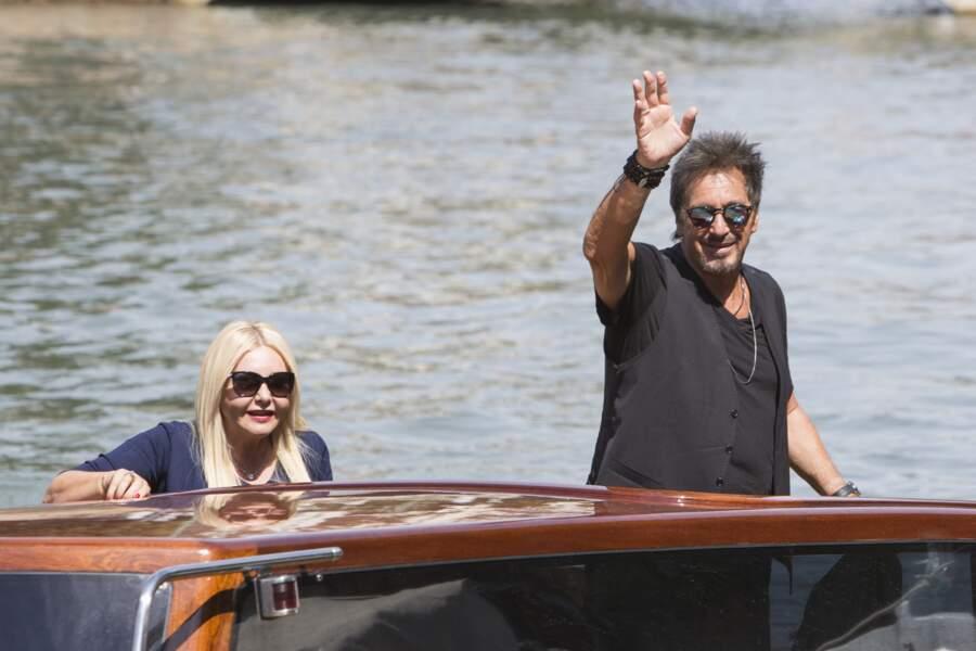 Al Pacino arrive en bateau au débarcadère du Casino