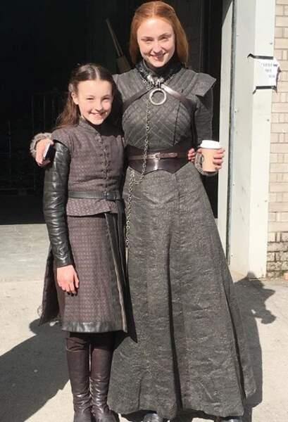 Puis la jeune actrice Bella Ramsey a retrouvé Lady Sansa (Sophie Turner)
