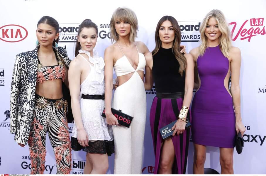 Zendaya, Hailee Steinfeld, Taylor Swift, Lily Aldridge, et Martha Hunt