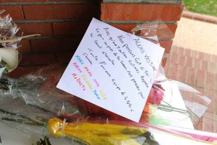 Un message d'adieu à Alexis Vastine