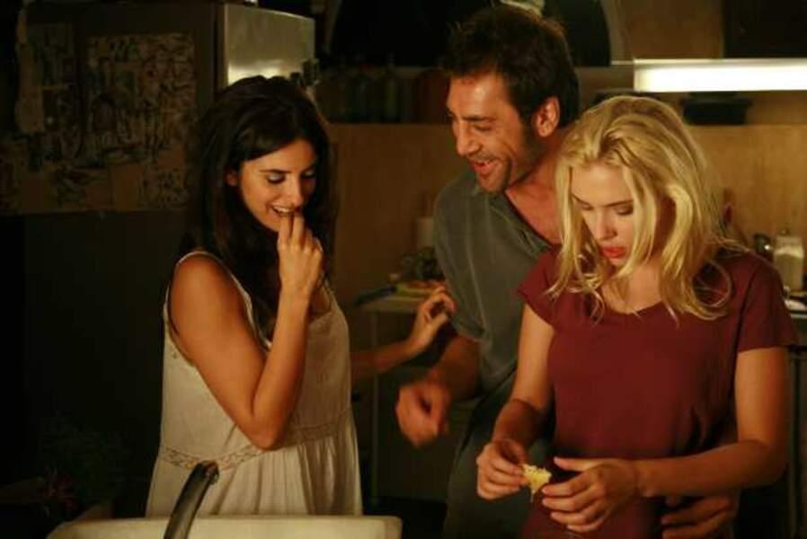 Penélope Cruz, Javier Bardem et Scarlett Johansson, triangle amoureux dans Vicky Cristina Barcelona (2008)