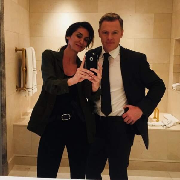 Selfie complice entre Mozhan Marno et Diego Klatenhoff