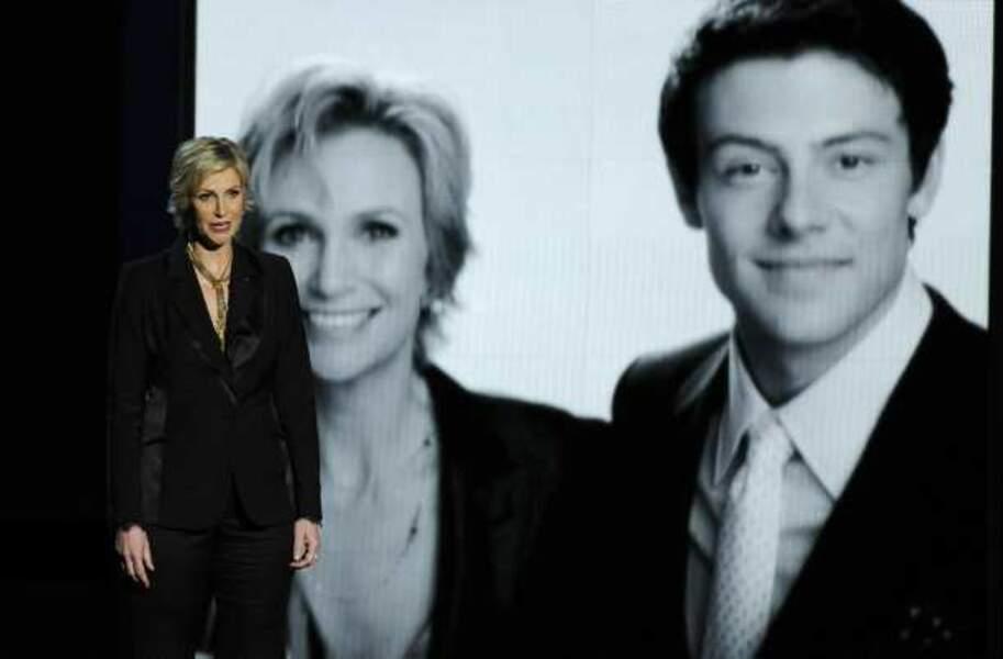 L'émouvant hommage de Jane Lynch à Cory Monteith, star de Glee