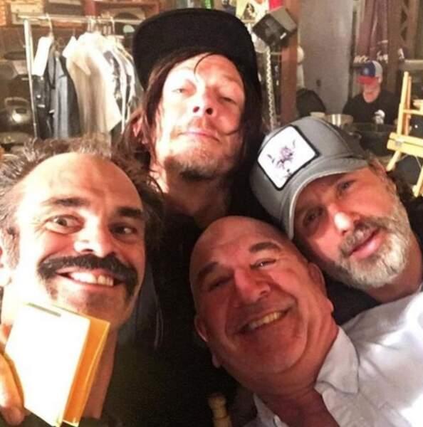 Les comédiens de Walking Dead prennent des selfies... pour le meilleur ou pour le pire ?