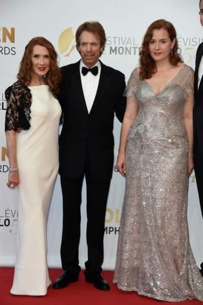 Le producteur-star Jerry Bruckheimer avec sa femme et sa fille