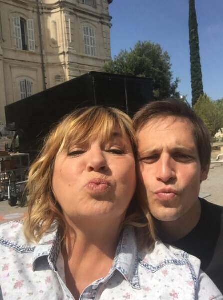 Michèle Bernier avec son nouveau partenaire pour La Stagiaire, Antoine Hamel...