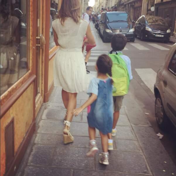 Retour d'école de sa petite famille