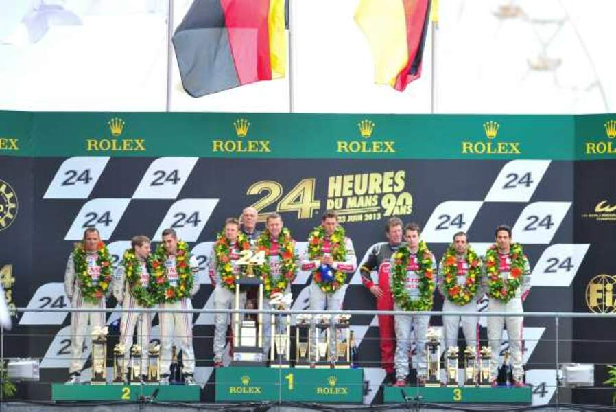 Le podium des 24 heures du Mans 2013