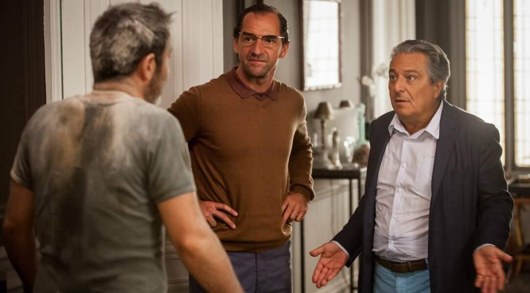 Stéphane De Groodt dans Une heure de tranquillité (2014), aux côtés de Christian Clavier