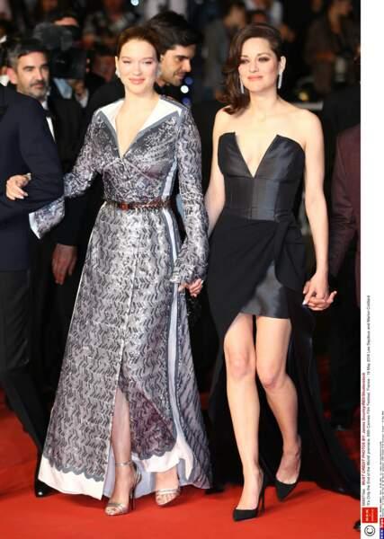 Avec son amie Marion Cotillard pour promouvoir le film