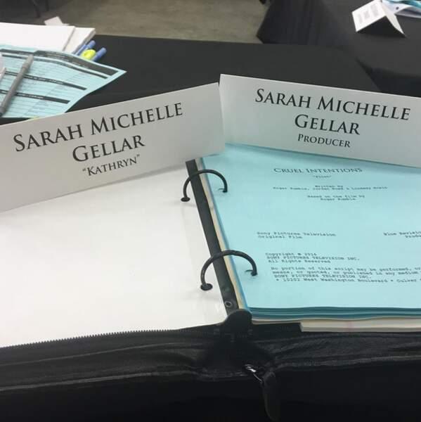 Sarah Michelle Gellar est en pleine préparation pour la série adaptée de Sexe intentions.