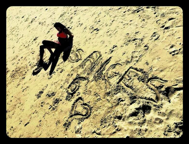 Seul sur la plage...