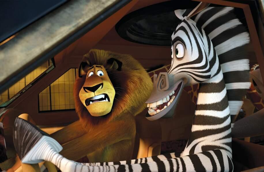 Alex le lion et Marty le zèbre, le duo amusant de la saga Madagascar est doublé par…