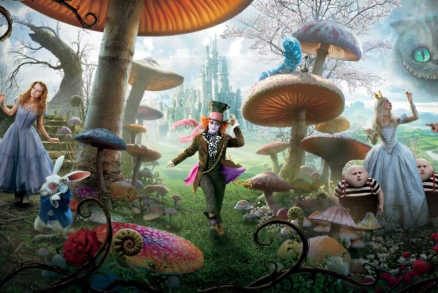 Alice au pays des merveilles (2010) : Tim Burton adapte ce conte traditionnel à sa sauce