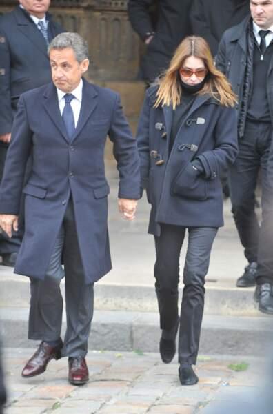 Nicolas Sarkozy et sa femme Carla Bruni Sarkozy.