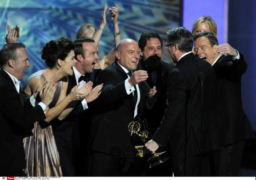 Le cast de Breaking Bad réuni pour le prix de la meilleure série dramatique