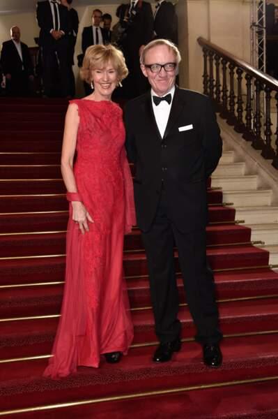 Bertrand Meheut, le président du groupe Canal+, et son épouse