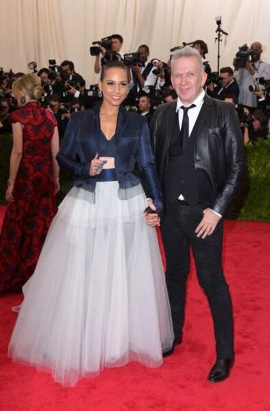 Alicia Keys et Jean-Paul Gaultier