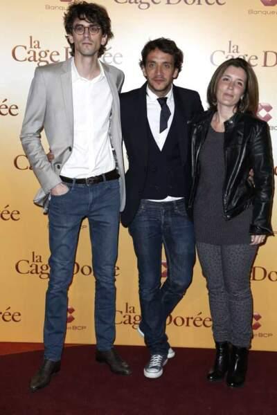 Ruben Alves et ses producteurs Hugo Gelin et Laetitia Galitzine