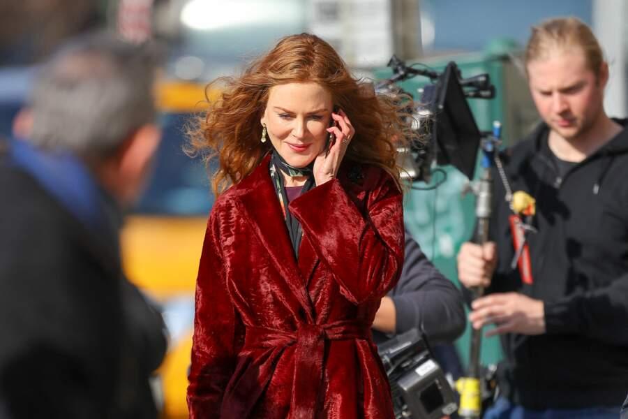 Toujours très professionnelle, Nicole Kidman enchaîne les scènes. D'ailleurs, Hugh Grant lui donnera la réplique