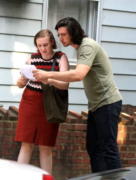 Lena Dunham et Adam Driver se retrouvent à Brooklyn pour la nouvelle saison de Girls