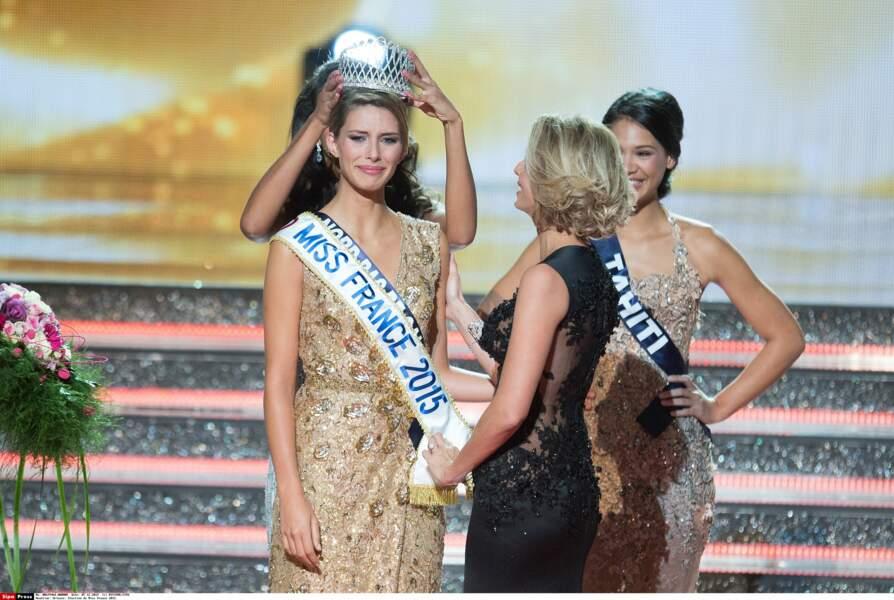 Pas de doute, la nouvelle reine de beauté des Français était très émue