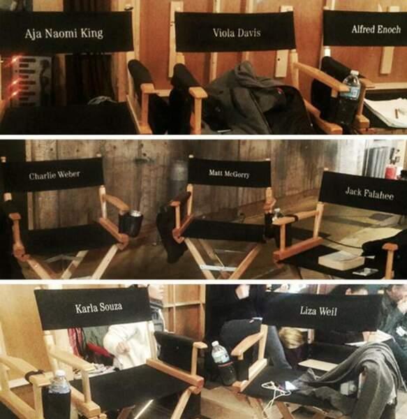 À chacun sa chaise et les acteurs seront bien gardés ! (How to Get Away With Murder)