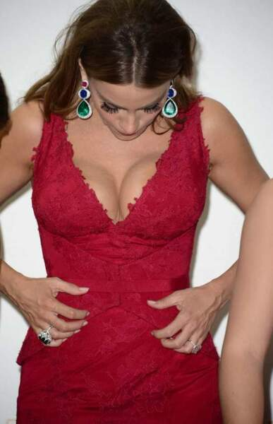 Sofia Vergara : trop tard pour cacher son décolleté