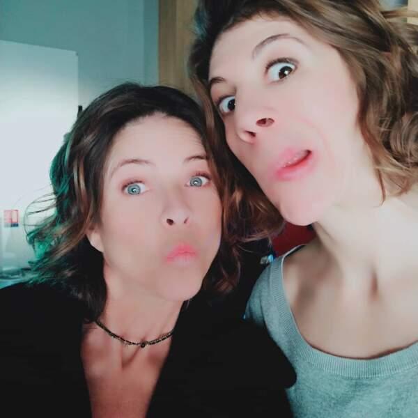 Charlotte Valandrey et Juliette Tresanini font le show sur le tournage de Demain nous appartient !