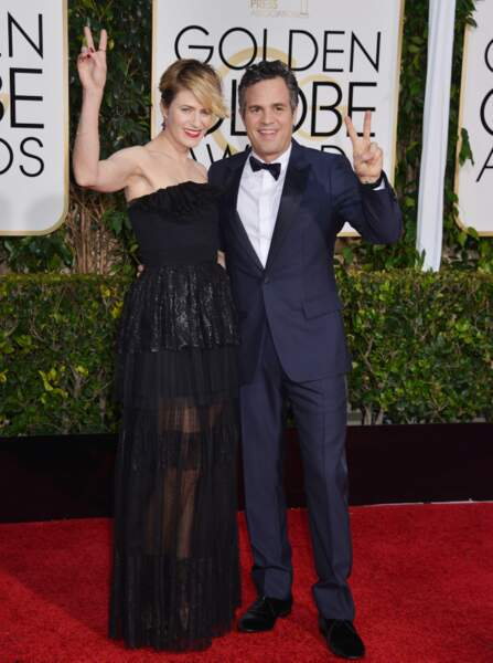 Mark Ruffalo et sa femme, enthousiastes sur le tapis rouge