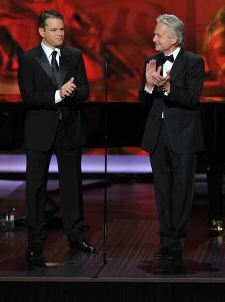 Matt Damon et Michael Douglas remettent le prix de la meilleure actrice de téléfilm ou mini-série