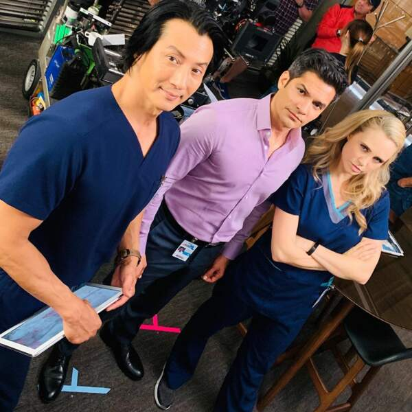 Will Yun Lee, Nicholas Gonzalez et Fiona Gubelmann, alias Alex, Neil et Morgan de Good Doctor, ne plaisantent pas