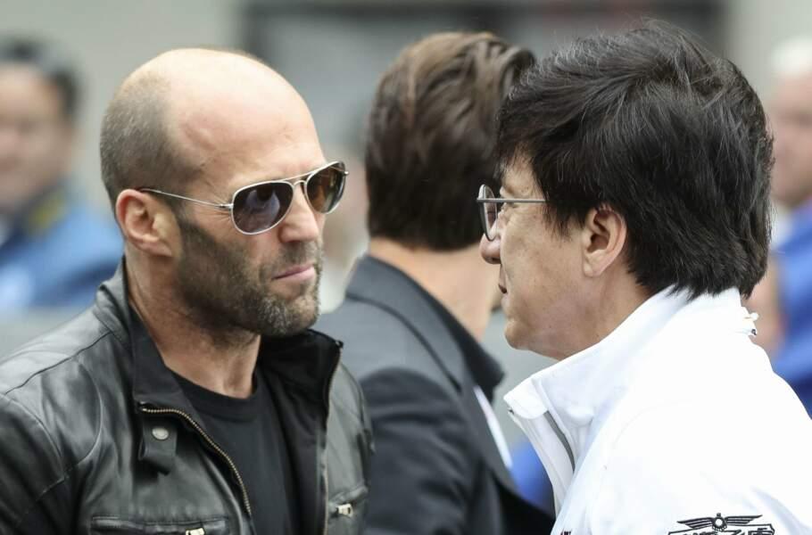 """Il était secondé par Jason """"Le transporteur fast et furieux"""" Statham et Jackie Chan"""