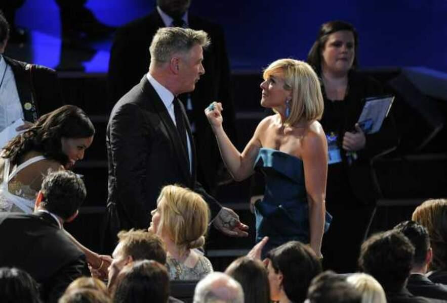 Kerry Washington, Alec Baldwin et Jane Krakowski dans le public des Emmy Awards 2013