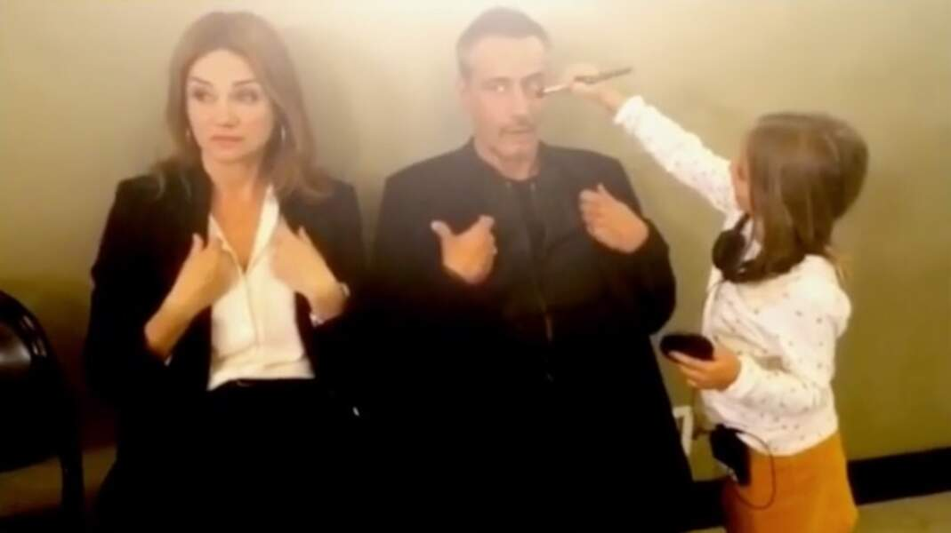 Marine Delterme et Jean-Michel Tinivelli, le couple d'Alice Nevers, s'étonnent du jeune âge de la maquilleuse