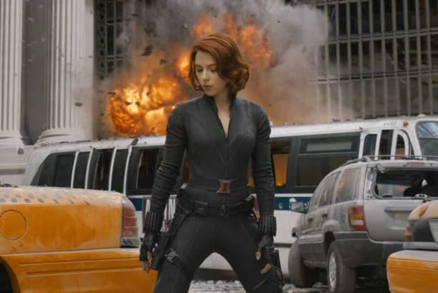 Explosive en super-héroïne dans The Avengers (2012)